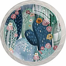 AITAI サボテン Flower Cute Round Cabinet