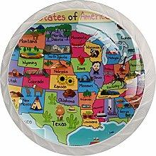 AITAI アメリカ map 地区 Round Cabinet