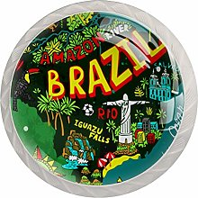 AITAI ブラジル map Forest Round Cabinet