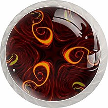 AITAI Abstract Brown Round Cabinet Knob 4 Pack