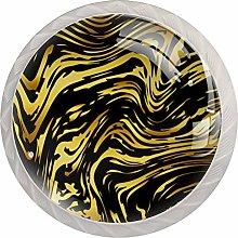 AITAI Abstract Shiny Golden Marble Texture Round