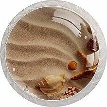 AITAI Beach Sand Starfish Shell Conch Round