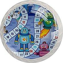 AITAI Board Desk Game Blue Round Cabinet Knob 4