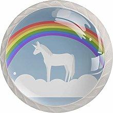 AITAI Cute Unicorns Round Cabinet Knob 4 Pack