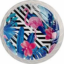 AITAI Flamingo Stripe Round Cabinet Knob 4 Pack