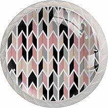 AITAI Geometry Pink Round Cabinet Knob 4 Pack