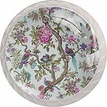 AITAI Rose Pink Duck Egg Pattern Round Cabinet