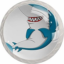 AITAI Shark Pattern Round Cabinet Knob 4 Pack