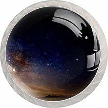 AITAI Starry Sky Round Cabinet Knob 4 Pack Pulls
