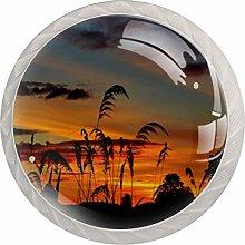AITAI Sunset Pattern Round Cabinet Knob 4 Pack