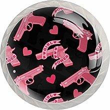 AITAI Valentine's Day Gun Heart Round Cabinet