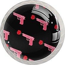 AITAI Valentine's Day Rose Gun Round Cabinet