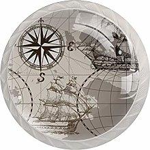 AITAI Vintage Nautical Map Anchor Compass