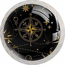 AITAI Windrose Compass Round Cabinet Knob 4 Pack