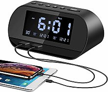 Aitsite Radio Alarm Clock, Digital Clock with FM