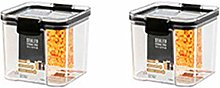 Aiweijia 2 pc Transparent PET sealed can Container