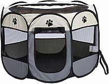 aixu Pet Fence Dog Kennel Folding Fence Oxford