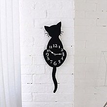 aiyvi Cat Wall Clock With Tail Moving Creative