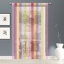 AIZESI 2PCS String Curtain Panel, Rainbow Door