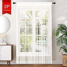 AIZESI 2PCS Tassel Intensive Door Curtain, Fly