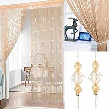 AIZESI Beaded Door Curtain String Curtain Fly
