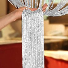 AIZESI Glitter String Door Curtains Panel, Fly