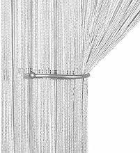 AIZESI Liqy Retro PlainTassel Door Curtain Fly