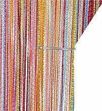 AIZESI Retro Plain Tassel Door Curtain Screen