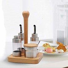 Aizhinuo Wooden Creative Seasoning Jar Set Kitchen