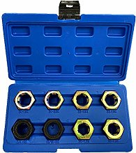 Ajcoflt 8Pcs Axle Spindle Rethreading Set Thread