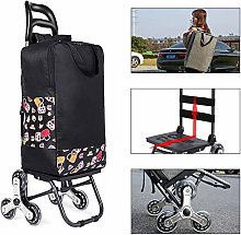 AJDGL Folding Trolley Shopping Cart- 6 Wheels