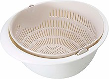 AJFIEF Double Layered Kitchen Strainer Bowl Sets,