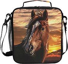 AJINGA Brown Horse Sky Lunch Bag Insulated Lunch