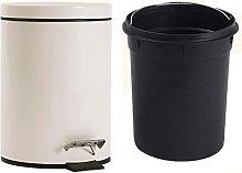 AJMINI Metal Trash Bin Garbage Can for Kitchen