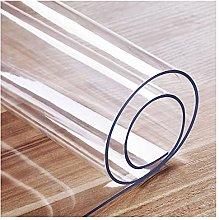 AJSJ PVC Transparent Plastic Table Cover Protector