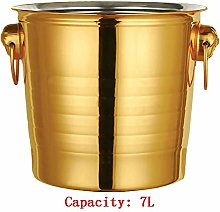 AK Red Wine Stainless Steel Ice Bucket - Large