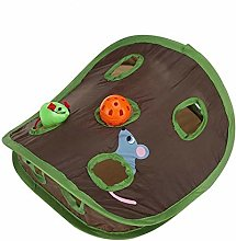 akaddy Cat Mice Bell Tent Toy w/ 9 Holes Pet Hide