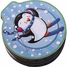 AKAMAS Christmas Tinplate Tin Candy Cans