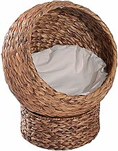 Akelizeng House cat bed upholstered dome basket
