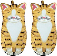 AKlamater 2 PCS Oven Mitts Cat Paws Oven gloves