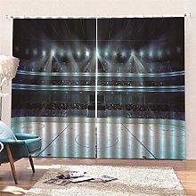 AKLIGSD Solid Curtain, Ice Hockey Pencil Pleat