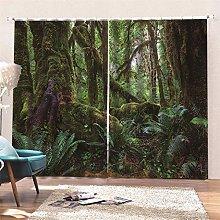 AKLIGSD Solid Curtain Rainforest Pencil Pleat