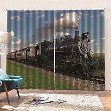 AKLIGSD Solid Curtain Steam Train Pencil Pleat
