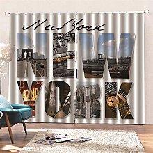 AKLIGSD Window Curtain New York Pencil Pleat