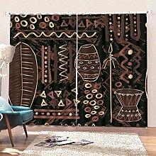 AKLIGSD Window Curtain Tribal Culture Pencil Pleat