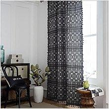 AKLIGSD Window Curtains Geometric Semi-Blackout