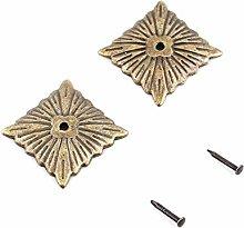 Akozon Decorative Tack, Bronze Metal Tags Vintage