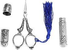 Akozon Vintage Stainless Steel Sewing Scissors