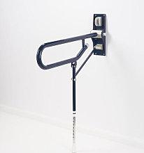 AKW Dark Blue Fold Up Toilet Support Grab Rail