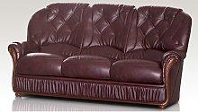 Alabama Genuine Italian Leather 3 Seater Sofa